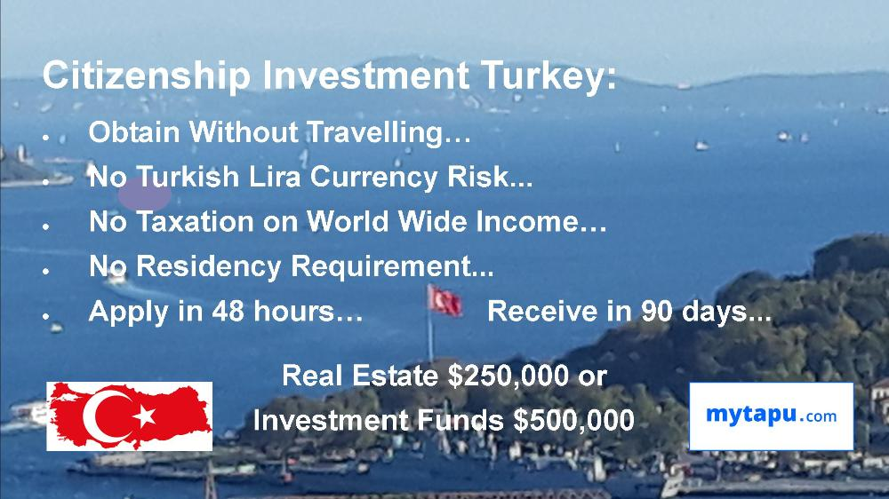 CITIZENSHIP INVESTMENT TURKEY BY REAL ESTATE PROPERTY INVESTMENT