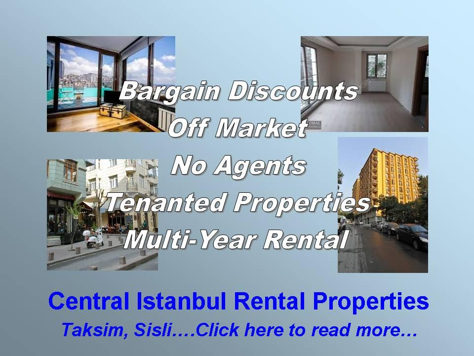 Central Istanbul Rental Income Property Investments at Discounted Bargain Prices Taksim Sisli