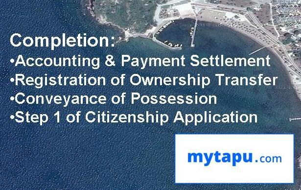 Accounting and Payment Settlement; Registration of Ownership Transfer;Conveyance of Possession; 1st Step of Citizenship Application